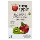 ROYAL APPLE Sok jabłko - kiwi w kartonie tłoczony 3l
