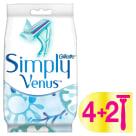 GILLETTE Simply Venus 3 Maszynki jednorazowe do golenia dla kobiet 6 szt. 1szt