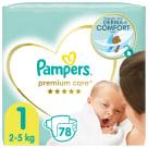 PAMPERS Premium Care Pieluchy Rozmiar 1 Newborn (2-5kg) 78 szt. 1szt