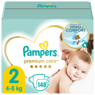PAMPERS Premium Care Pieluchy Rozmiar 2 (4kg-8kg) 148 szt. 1szt