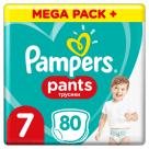 PAMPERS Pants Pieluchomajtki Rozmiar 7 ( 17kg+) 80 szt 1szt