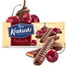 KRAKUSKI Paluszki z galaretką wiśniową w czekoladzie 144g
