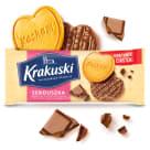 KRAKUSKI Serduszka Herbatniki z dodatkiem masła w czekoladzie mlecznej 171g
