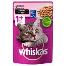 WHISKAS 1+ Pokarm dla Kotów z Łososiem w Sosie - Saszetka 100g