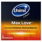 UNIMIL Prezerwatywy Max Love 3 sztuki 1szt