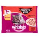 WHISKAS 1+ Pokarm dla Kotów - Kremowa Zupa Tradycyjne Smaki (4 saszetki) 340g