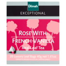 DILMAH Exceptional Herbata czarna Rose with French Vanilla 20 torebek 40 g