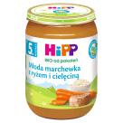 HIPP Krem z marchwi i ryżu z cielęciną BIO - po 5  miesiącu 190g