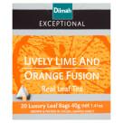 DILMAH Exceptional Herbata czarna Lime& Orange Fusion 20 torebek 40g