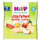 HIPP Wafelki ryżowe jabłkowe BIO - po 7 miesiącu 30g