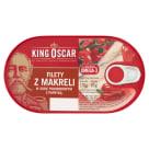 KING OSCAR Filety z makreli w sosie pomidorowym z papryką 170g