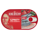 KING OSCAR Szproty w sosie pomidorowym 170g