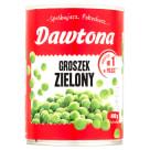 DAWTONA Groszek zielony konserwowy 400g