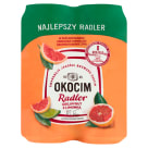 OKOCIM RADLER Piwo grejpfrut z limonką w puszce (4x500ml) 2l