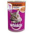 WHISKAS 1+ Pokarm dla Kotów z Indykiem w Galaretce - Puszka 400g