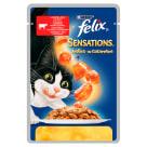 FELIX® Sensations Karma dla kotów z wołowiną w galaretce z pomidorami 100g