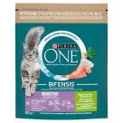 PURINA ONE SENSITIVE Karma dla dorosłych kotów bogata w indyka i ryż 800g