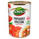 ŁOWICZ Pomidory krojone w puszce 400g