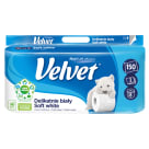 VELVET Delikatnie Biały Papier toaletowy 8 rolek + 2 gratis 1szt