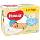 HUGGIES Pure Chusteczki nawilżane 2+1 (3 x 56 szt.) 1szt