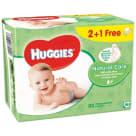 HUGGIES Natural Care Chusteczki nawilżane 2+1 (3 x 56 szt.) 1szt
