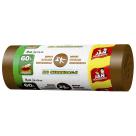 JAN NIEZBĘDNY Worki do segregacji śmieci 60l 16 szt - brązowy 1szt