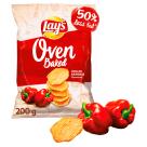 LAYS Oven Baked Pieczone chipsy ziemniaczane o smaku grillowanej papryki 200g