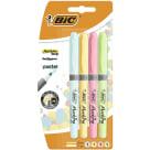 BIC Highlighter Grip Pastel Zakreślacz mix Blister 4szt 1szt