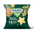 BOBOVITA Chrupki gwiazdki wielozbożowe - wybornie ananasowe po 1 roku BIO 20g