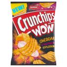 CRUNCHIPS Wow Grubo krojone chipsy ziemniaczane o smaku sera cheddar i cebuli 110g