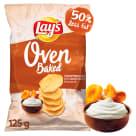 LAYS Oven Baked Chipsy ziemniaczane o smaku kurek w śmietanie 125g
