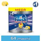 FINISH POWERBALL Quantum MAX Kapsułki do zmywarek Lemon cytrynowe 64 szt 1szt