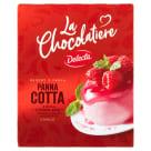 DELECTA La Chocolatiere Panna Cotta z białą czekoladą i sosem o smaku malinowym 80g