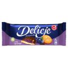 DELICJE SZAMPAŃSKIE Biszkopty z galaretką o smaku jagodowym oblewane czekoladą 147g