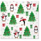 TETE Á TETE Serwetki dekoracyjne CHRISTMAS PENGUINUS 33x33cm 20 szt. 1szt