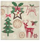 PAW Serwetki dekoracyjne RUSTIC CHRISTMAS 33x33cm 20 szt. 1szt