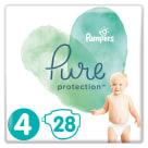 PAMPERS Pure Protection Pieluchy rozmiar 4 (9-14kg) 28 szt 1szt