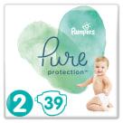 PAMPERS Pure Protection Pieluchy rozmiar 2 (4-8 kg) 39 szt 1szt
