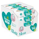 PAMPERS Sensitive Chusteczki nawilżane dla niemowląt 12x52 szt. 1szt