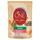 PURINA ONE Mini Active Karma dla psów z wołowiną ziemniakami i marchewką w sosie 100g