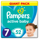 PAMPERS Active Baby Pieluchy Rozmiar 7 ( 15 kg+) 52 szt. 1szt