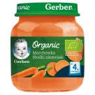 GERBER Organic Marchewka słodki ziemniak dla niemowląt po 4 miesiącu 125g