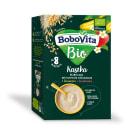 BOBOVITA BIO Kaszka bezmleczna pełnoziarnista wielozbożowa z bananem i truskawką dla niemowląt po 8 miesiącu 200g
