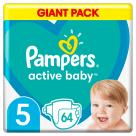 PAMPERS Active Baby Pieluchy Rozmiar 5 (11-16kg) 64 szt. 1szt