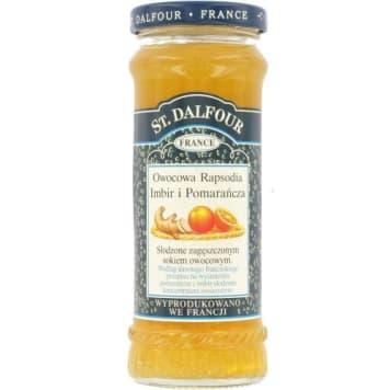 Konfitura Imbir i pomarańcza – St. Dalfour. Pyszny smakołyk kuszący podniebienie słodko-kwaśną nutą.