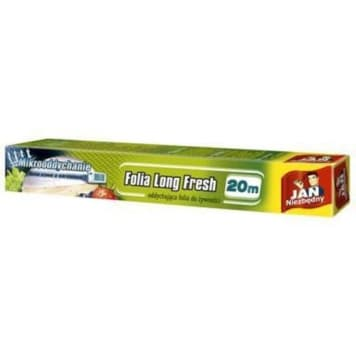 Long Fresh Folia do żywności - Jan Niezbędny. Dzięki niej jedzenie dłużej zachowuje świeżość.