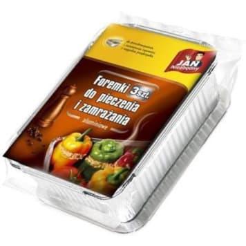 Forma do pieczenia i mrożenia -Jan Niezbędny. Aluminiowe foremki do pieczenia i zamrażania.