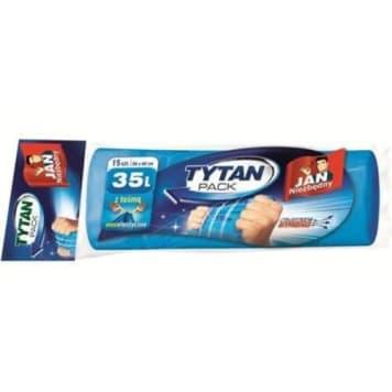 JAN NIEZBĘDNY Tytan Worki na śmieci z taśmą 35l 15 szt. 1szt
