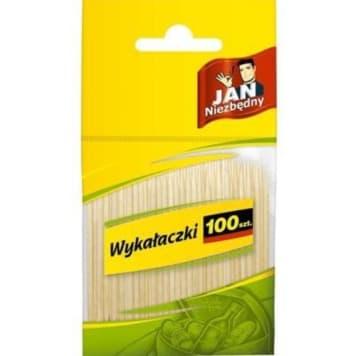 Wykałaczki - Jan Niezbędny. Zapakowane w opakowaniu po 100 sztuk, praktyczne i niezbędne.