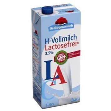 Mleko bez laktozy 3,5% - Breisgaumilch. Ilość laktozy poniżej poziomu wykrywalności.